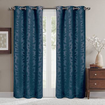 Navy 74x84 Virginia Blackout Grommet (Set of 2) Panels