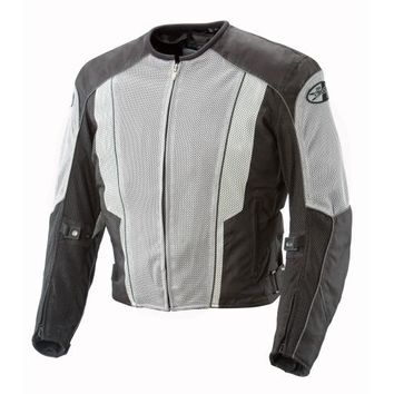 Joe Rocket Phoenix 5.0 Mens Grey/Black Mesh Motorcycle Jacket