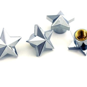 Star Auto Car Wheel Tire Air Valve Caps