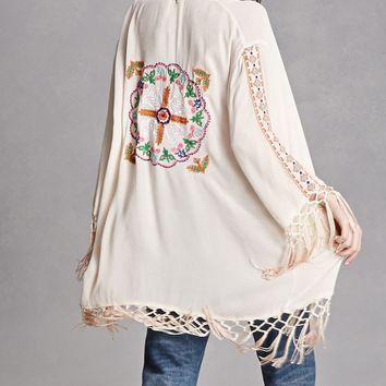 Z and L Europe Tasseled Kimono