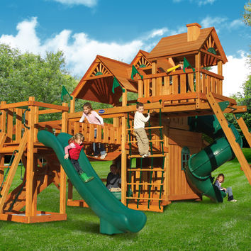 Playnation Hunter's Deluxe Wooden Swing Set