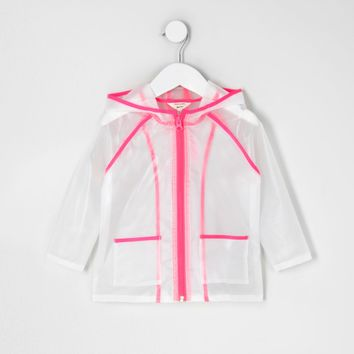 Mini girls pink clear rain coat - Baby Girls Coats & Jackets - Mini Girls - girls