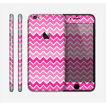 The Pink & White Ombre Chevron V2 Pattern Skin for the Apple iPhone 6