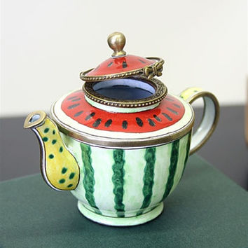 Watermelon Miniature Porcelain Teapot - 7514