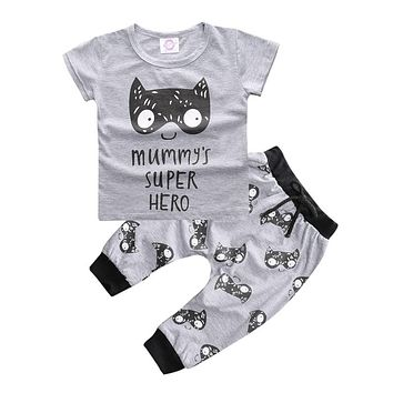 Baby Boy Clothing Sets Baby Rompers Short Sleeve Newborn Baby Clothes Infant Jumpsuits