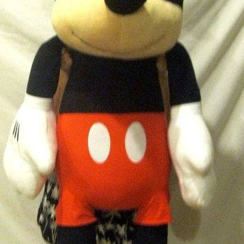"Walt Disney 63"" Jumbo Mickey Mouse Plush Stuffed Animal Toy-New with Tags!"