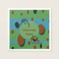 A Charming Baby Frogs Napkin