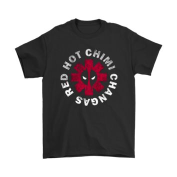 KUYOU Red Hot Chimi Changas Red Hot Chili Peppers Deadpool Shirts