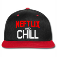 NETFLIX AND CHILL SNAPBACK HAT