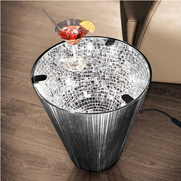 """Narciso"" Mirror Mosaic Table - Fascinating glow – reflected by hundreds of tiny mirrors. - Pro-Idee Concept Store - new ideas from around the world"