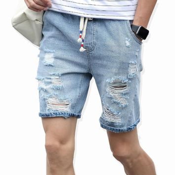 2017 Men's New Fashion Ripped Jean Shorts
