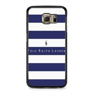 Polo Ralph Lauren Blue White Stripes Samsung Galaxy S6 case