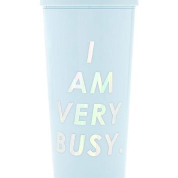 I am Very Busy Thermal Travel Coffee Mug by Bando - Blue