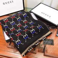 GUCCI new fashionable woman color printed logo shawl scarf