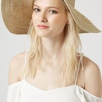 Women's Topshop Crochet Floppy Hat
