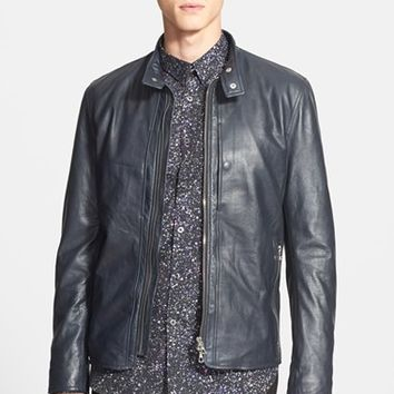 Men's PS Paul Smith Leather Bomber Jacket ,