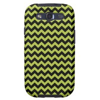 Chevron Acid Green And Black Patterns Samsung Galaxy S3 Cover from Zazzle.com