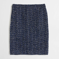 Factory tweed pencil skirt