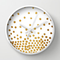 Gold Bubbles Wall Clock by Tangerine-Tane
