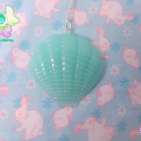Fairy Kei Kawaii Seashell Necklace  Mint by rarasjewels on Etsy