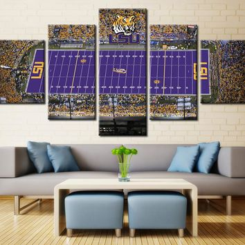 LSU Tigers Stadium Canvas