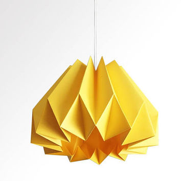 Shop origami paper lamp shades on wanelo pumpkin origami paper lamp shade yellow aloadofball Image collections