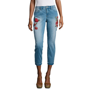 a.n.a Embroidered Skinny Crop - JCPenney