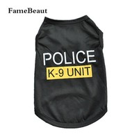 Summer Dog Clothes Police Pattern Dog Clothing Sport Style Pet Vest T-shirt for Dog Clothes Hot Sale
