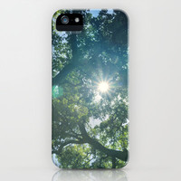 The sun into the big forest iPhone & iPod Case by Guido Montañés