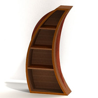Bookcase 3 shelf cubby Wood Wooden Curved Custom The by MapleBear