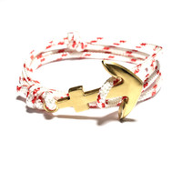 Brushed Gold Anchor on LifeGuard Cord
