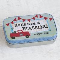 Sons  Are  A  Blessing  Prayer  Box  From  Natural  Life