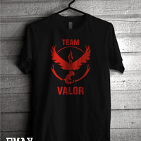Team Valor Shirt, Unisex Tee, Pokemon Go Shirt, 100% Cotton Pokemon Clothing, Valor Shirt for Woman and Man