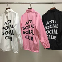 Men's Anti Social Social Club Jacket Hip Hop Windbreaker Jacket