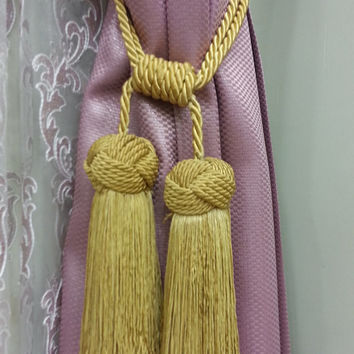 Curtain Accessories - Macrame Curtain Accessories - Gold Color Accessories - F704