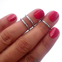 3 Above The Knuckle Rings - Antique.. on Luulla