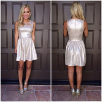 Metallic Bailey Cut Out Dress