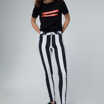 Jordan Jean in Motel Stripe Black and White by Motel
