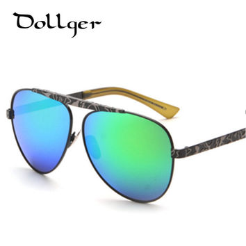 2016 new Vintage sunglasses women mirrors glasses men oculos METAL coating sunglass safety sun glasses Reflective lens S0811