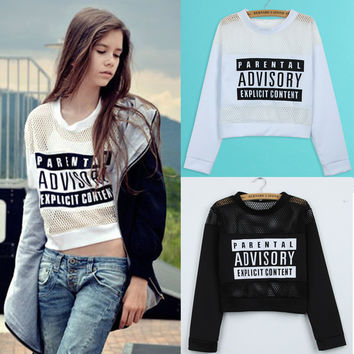Alphabet Cotton Long Sleeve T-shirts Hoodies [8894727879]