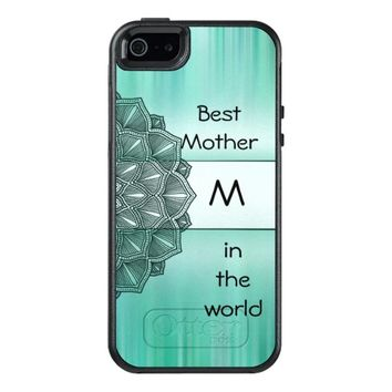 Best Mother in the world Monogram Mandala OtterBox iPhone 5/5s/SE Case