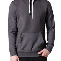 Modern Amusement Solid Heather Mixed Hoodie - Mens Hoodies - Gray