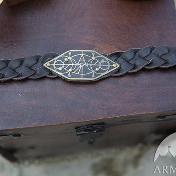 "Real Leather Braided Belt ""The Alchemists daughter"""