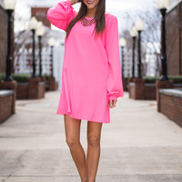 Sun Shiny Day Dress, Hot Pink