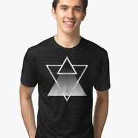 'Numbered Triangles' Tri-blend T-Shirt by hypnotzd