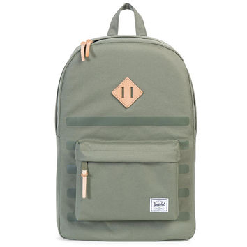 Heritage Offset Backpack Deep Lichen Green Stripe