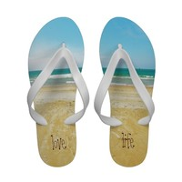 Love Life Beach Flip Flops from Zazzle.com