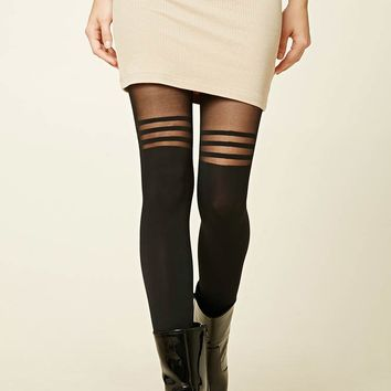 Striped Colorblock Tights