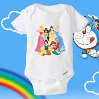 Disney Princess baby Onesuit - shirt baby Onesuit - baby clothing Onesuit
