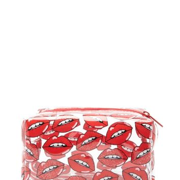 Lip Print Makeup Bag